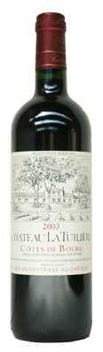 Bordeaux Côtes de Bourg Chateau La Tuilière avec comme millésime 2008