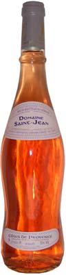Côtes de Provence Domaine St Jean avec comme millésime 2010