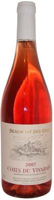 Côtes du Vivarais Rosé Les Vignerons Ardèchois année 2009